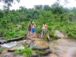 Wandering through jungle to find the long white beach on the other side...'Wear proper shoes!' they warned...
