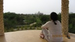 When I had a wonderful time-stamp follow me round all day...hurrr. Looking all serious and pondering the Taj Mahal in the distance.