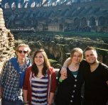 """""""We should go away for a long weekend!"""" """"YES."""" - Posing with university friends on a three day roam of Rome."""